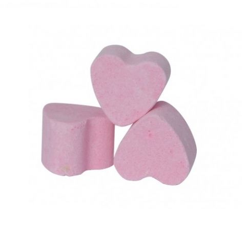 30 x Pink Strawberry Mini Bath Hearts Fizzers Bath Bubble & Beyond 10g Each